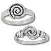Sterling Silver Psychedelic Hypnotic Swirl Ring