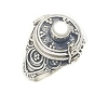 Sterling Silver Bali Round Pearl Poison Ring 5.7 grams 4 mm band