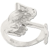 Sterling Silver Frog With Legs Forming Ring