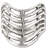 Sterling Silver Basket Shield Ring