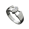 Sterling Silver Marquise CZ Cubic Zirconia With Side Openings