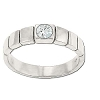 Sterling Silver Center CZ Cubic Zirconia Segmented Ring