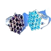 Sterling Silver  Assorted Color 19 CZ Cubic Zirconia Hexagon Ring