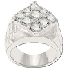 Sterling Silver Men's Style 9 CZ Cubic Zirconia Ring