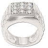 Sterling Silver Men's Style 9 CZ Cubic Zirconia Pinky Ring