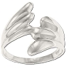 Sterling Silver Large Size Double Wave Ring