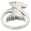 Sterling Silver  Whale Tail Bow Ring