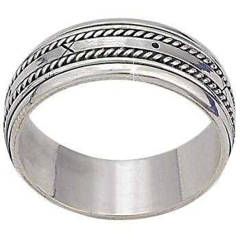 sterling silver bali x and o mens spinner ring. Black Bedroom Furniture Sets. Home Design Ideas