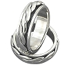 Sterling Silver Double Braid Design Spinner Ring