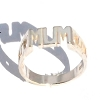 Sterling Silver 925 Mum With Chain Link Sides Ring