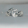 Sterling Silver 925 Double Heart Ring