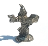 Wizard Conjuring from  Spell Book  Lead Free Pewter Figurines 1 3/8 Inch Tall