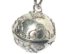 Sterling Silver hand-made Bali 16 mm Harmony Ball 4 intertwine Circle Pendant