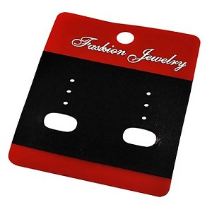 Black & Red Earring Cards - Sold in packs of 50