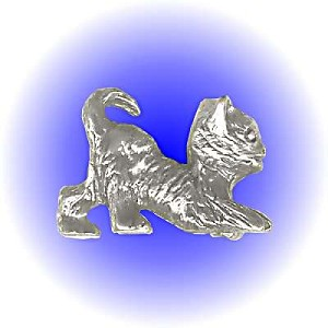 Kitty Cat Pewter Figurine - Lead Free.