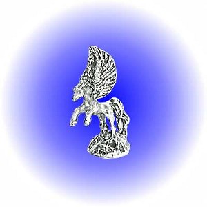 Flying Pegasus Pewter Figurine - Lead Free