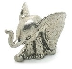 New Baby Sitting Elephant Giant Ears - Pewter Figurine Lead Free