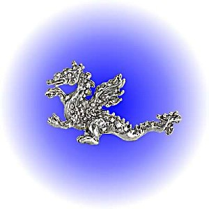 Wing Fire Dragon - Pewter Lead Free