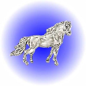 Standing Horse Pewter Figurine - Lead Free