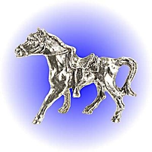 Saddled Horse - Pewter Figurine Lead Free