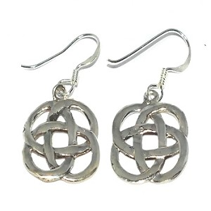 Sterling Silver Celtic Knotted Riddle Dangle Earring