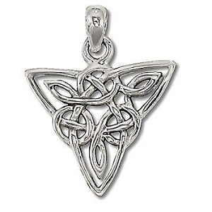 Sterling Silver Celtic Riddled Knot Triangle