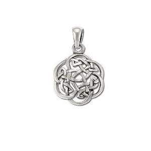 Sterling Silver 925 Celtic Riddle Knot Charm Pendant