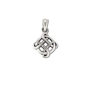 Sterling Silver Celtic Bowen Cross Laced With Circle Pendant