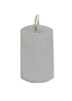 Sterling Silver Engravable Dog Tag Pendant 1 by 5/8 inches