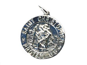 Sterling Silver Saint Christopher Medallion Pendant