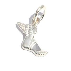 Sterling Silver Winged Foot Of Mercury Pendant