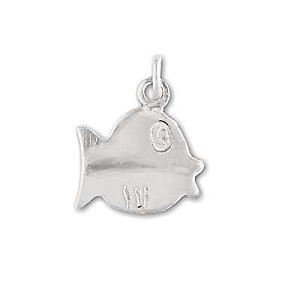 Sterling Silver Fish Pendant