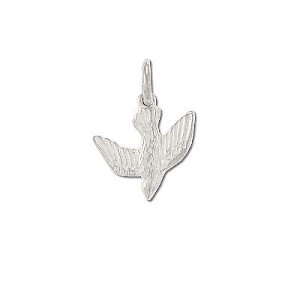 Sterling Silver flying descending Bird Pendant