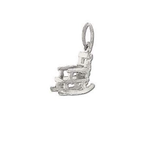 Sterling Silver Antique Rocking Chair Pendant