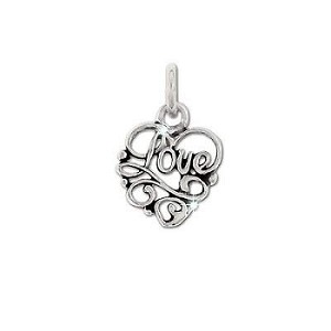 Sterling Silver Fancy LOVE Pendant