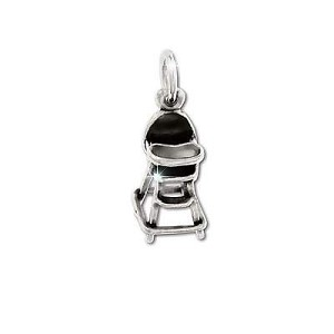 Sterling Silver Baby High Chair Figurine Pendant