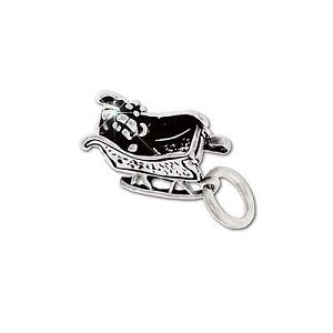 Sterling Silver Sleigh Figurine Pendant