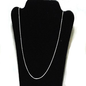 Sterling Silver box 18 inch 0.9 mm Neckchain