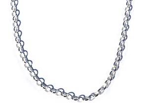 Sterling Silver 24 Inch Rolo 2.1mm Neck Chain Necklace