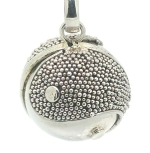 Sterling Silver Bali 14mm Harmony Dream Ball Sandblast Pendant