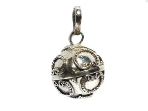 Sterling Silver Hand Made 16.MM Chime Harmony Ball Pendant