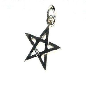 Sterling Silver 5 point Star Charm Pendant