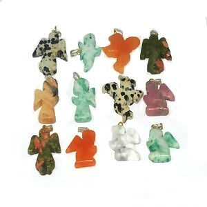 Angels Stone Pendant Sold by Piece in Mixed Color and Shapes