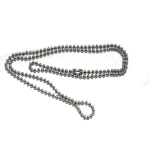 Stainless Steel 20 Inch 2mm Ball Link Neck Chain Necklace