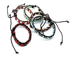 Colorful Braided Leather Adjustable Friendship Bracelet