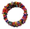 Multi Color Wood Bead Wrap Bangle Bracelet