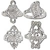 Sterling Silver Large Diamond Cut Filigree Rings