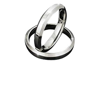 316L Stainless Steel  Angular Edged 4 mm Ring Band
