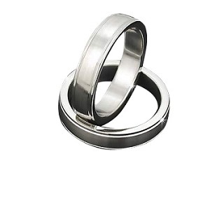 Men's 316L Stainless Steel Texture 5 mm Band Ring