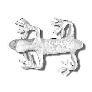 Sterling Silver Gecko Wrap Ring